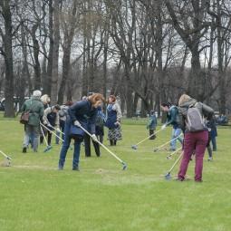 Арт-субботник в Михайловском саду 2019