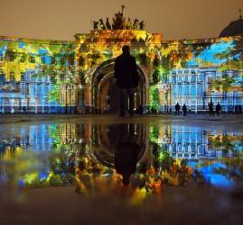 Фестиваль света на Дворцовой площади 4 и 5 ноября 2017 года