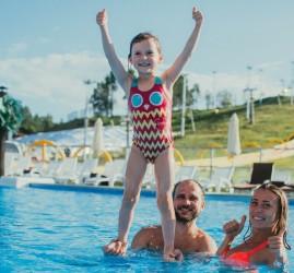 Открытый бассейн в «Охта-Парке»