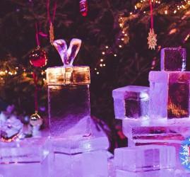 Фестиваль ледовых скульптур «ICE FANTASY-2020» в Петропавловской крепости