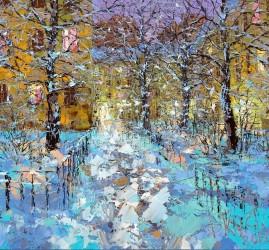 Рождественская выставка живописи в  Галерее Кустановича