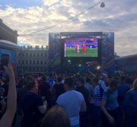 Прямые трансляции матчей Кубка Конфедераций FIFA 2017 на Конюшенной площади
