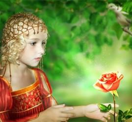 Детский спектакль «Аленький цветочек» в театре имени Акимова