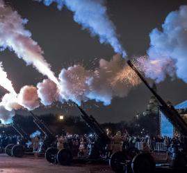 Реконструкция «Ленинградский салют» на Марсовом поле-2020