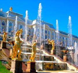 Пуск фонтанов в музее-заповеднике «Петергоф» 2020