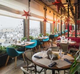 Весна в панорамном ресторане «Паруса на крыше»