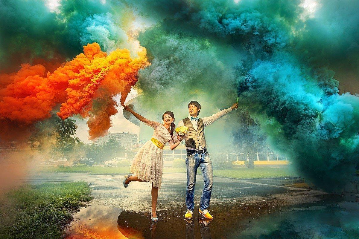 Фестиваль цветного дыма вПарке Сказок 30 июля
