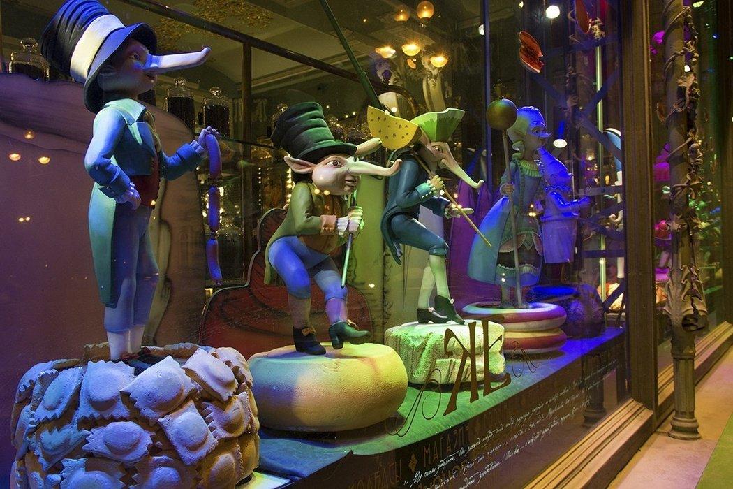 3D-шоу нафасаде магазина купцов Елисеевых