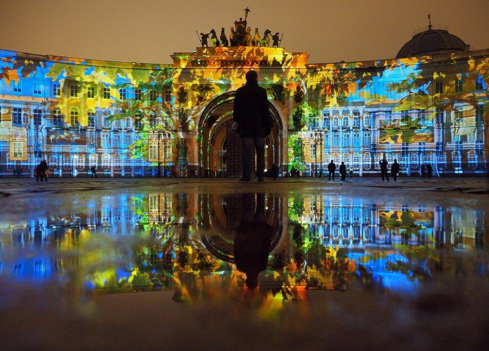 Фестиваль света наДворцовой площади 4 и5 ноября 2017 года