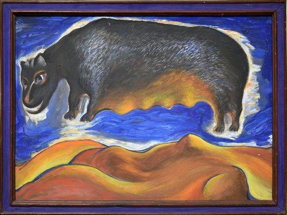 Выставка «Черные вихри насинем или зелено-голубом фоне»