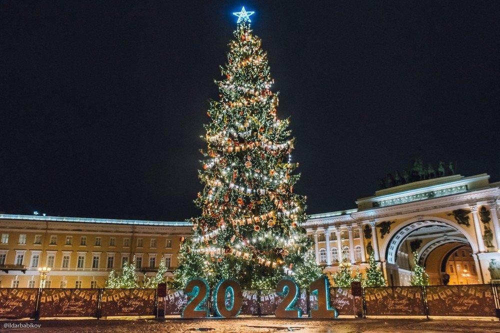Новогодняя Ёлка наДворцовой площади 2021