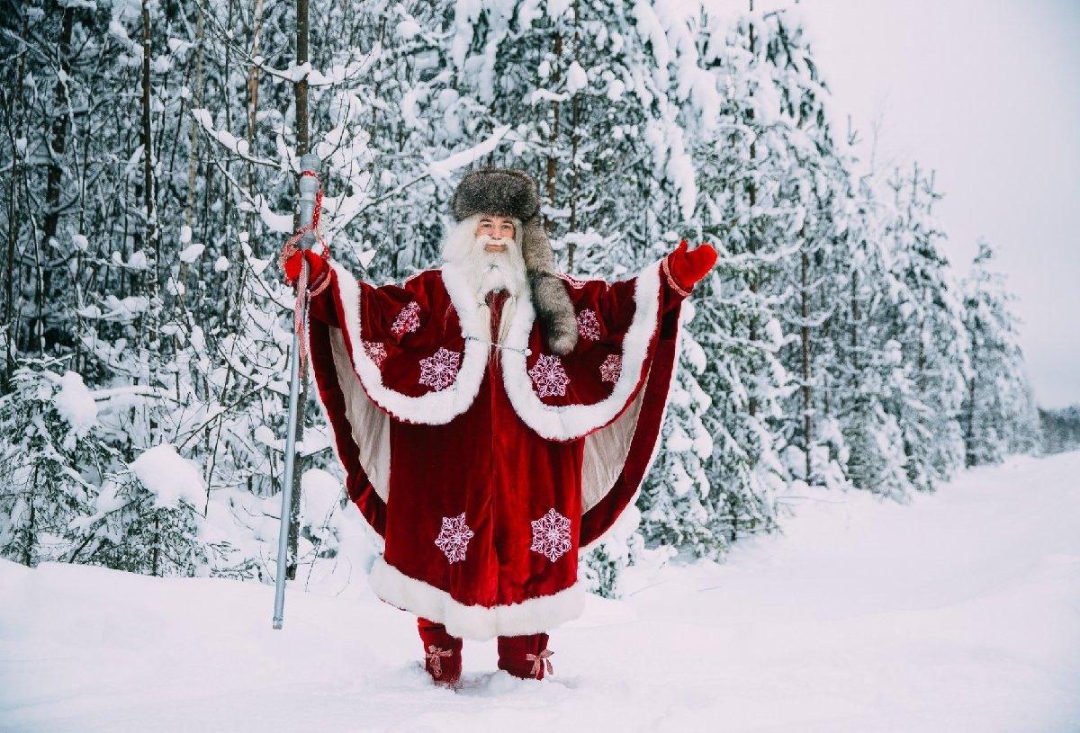 Путешествие кхаски икарельскому Деду Морозу 2021