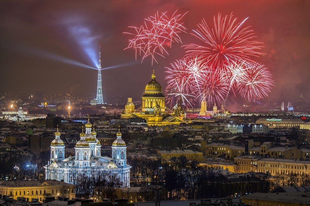 Салют вчесть Дня защитника Отечества 2019