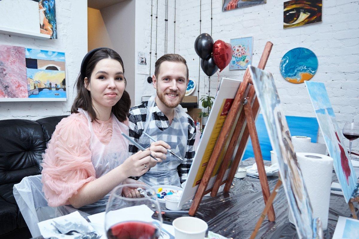 Мастер-классы «Картина за3 часа» вСанкт-Петербурге