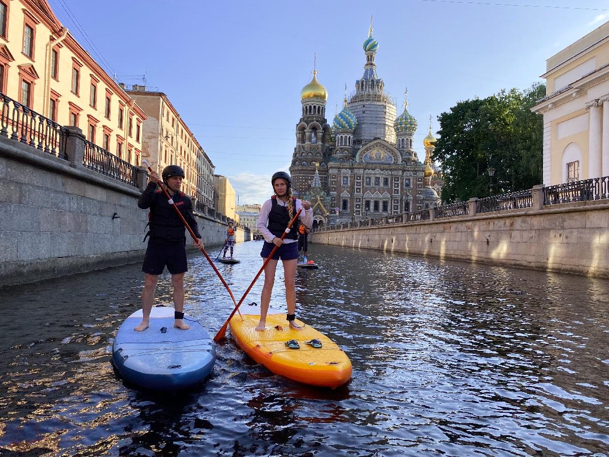 Прогулки наСАП-борде вСанкт-Петербурге
