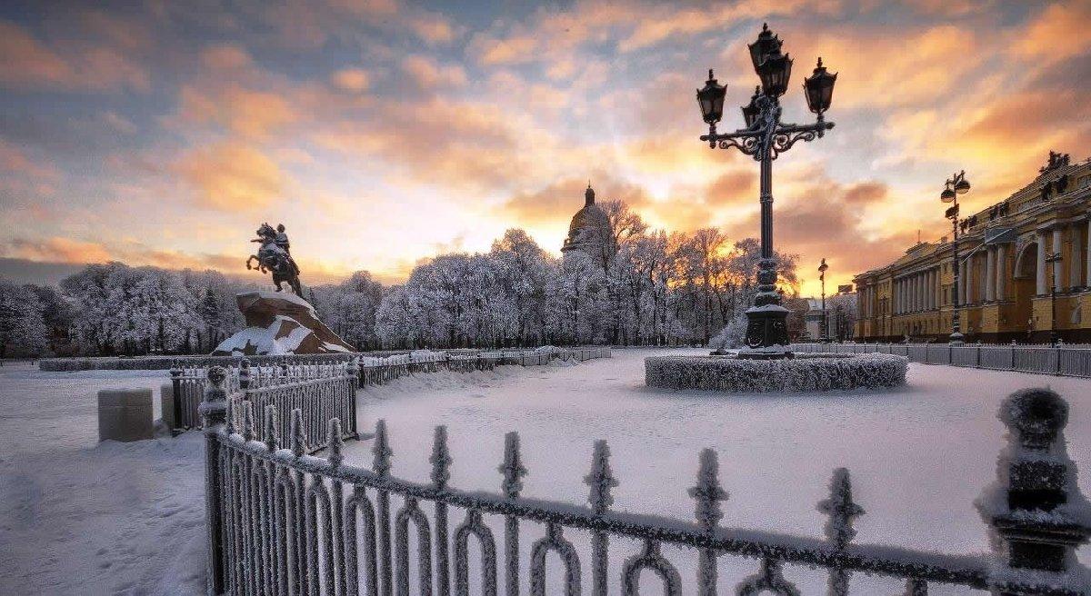 Картинки зима в санкт петербурге