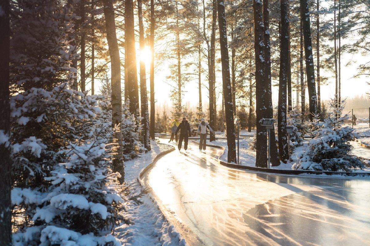 Открытие лесного катка накурорте «Охта Парк» 2020