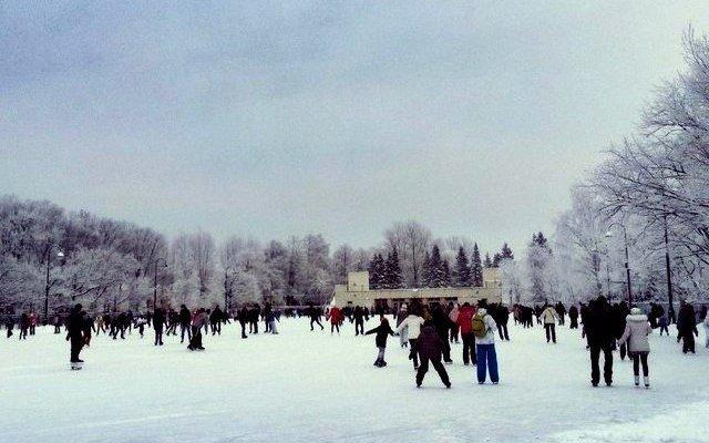 Открытие катка вМосковском парке Победы 2018