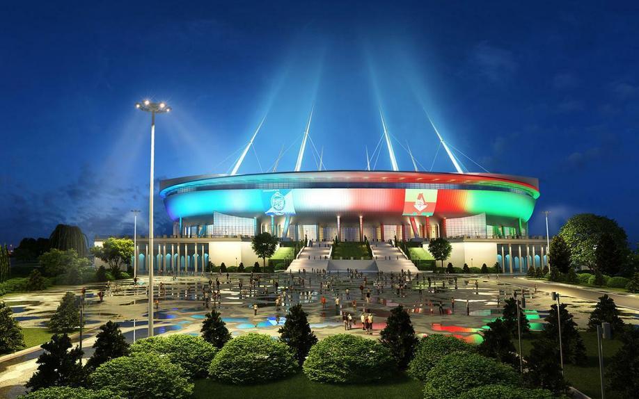 Фестиваль света устадиона «Санкт-Петербург Арена» 2017