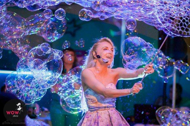Фестиваль мыльных пузырей впарке «Сказок»