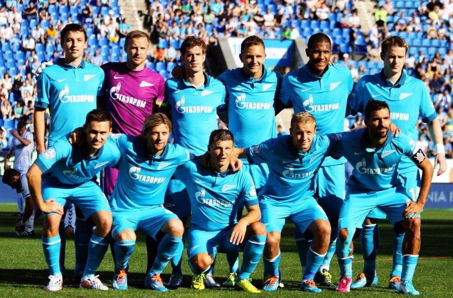 Футбольный матч команды «Зенит»