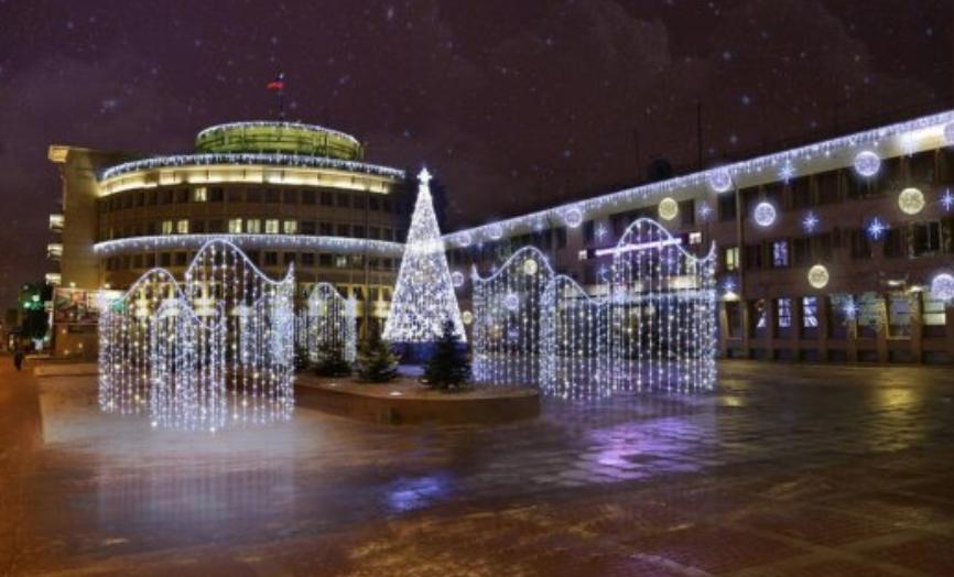 Новогоднее украшение Московского района
