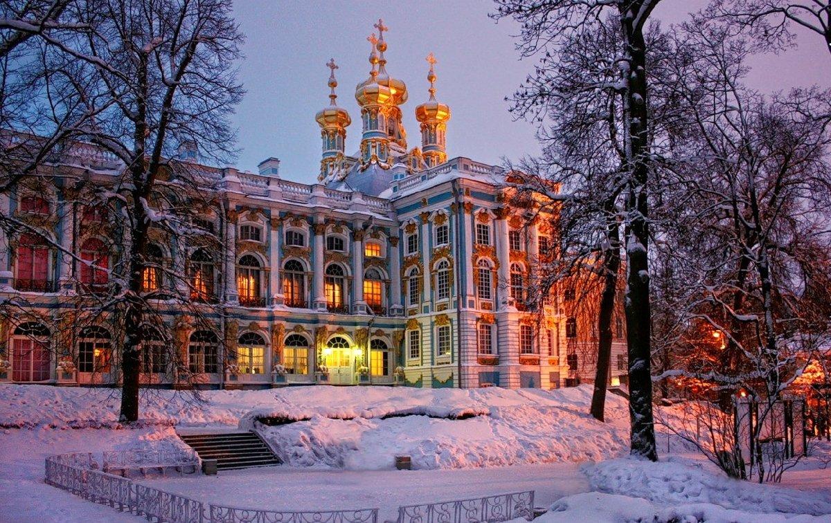 Зимний вечер света вЦарском селе 2017