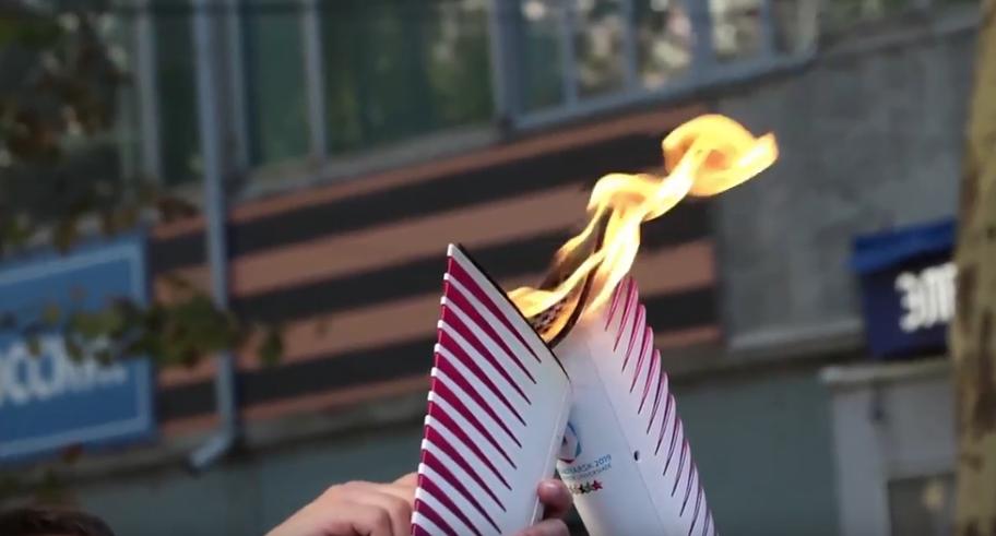 Эстафета огня Всемирной зимней универсиады-2019
