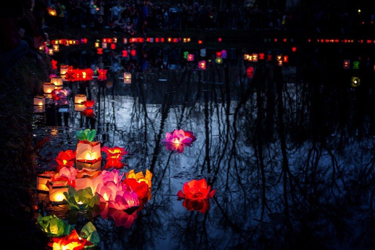 Фестиваль водных фонариков вЮсуповском саду 2018