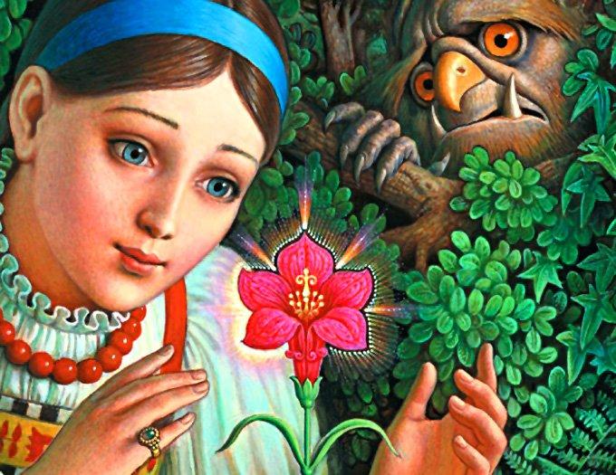 Аленький цветочек картинки к сказке для детей