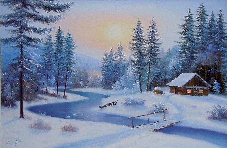 лиза расстались картинка зимнего пейзажа книжного варианта изделия