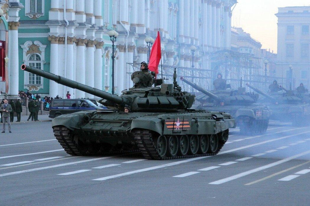 Подготовка кпроведению Парада войск наДворцовой площади 2020