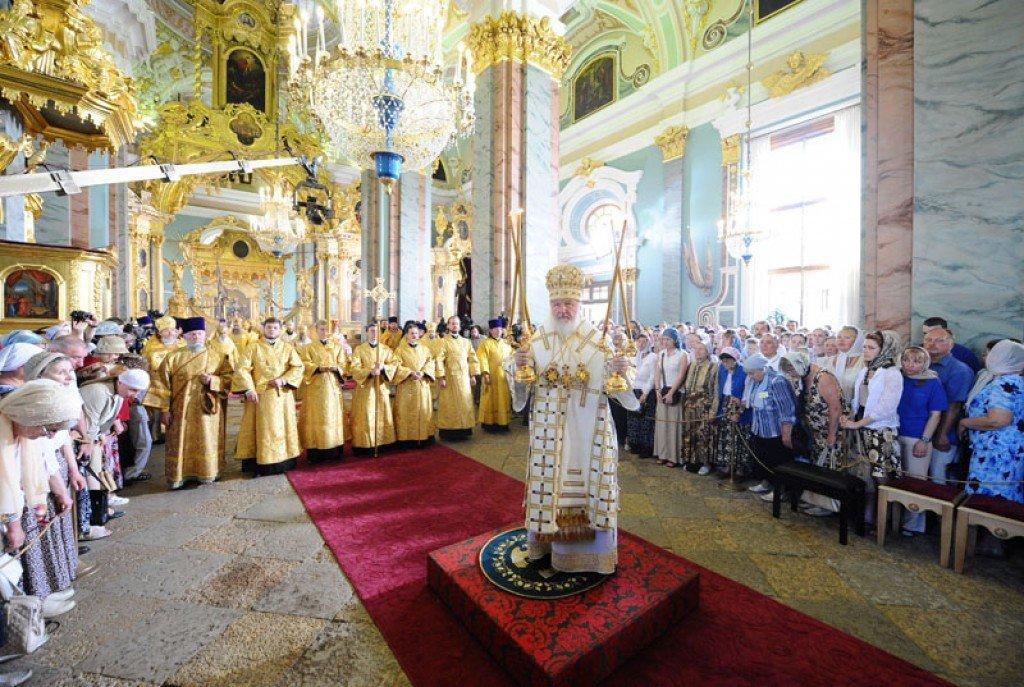 Патриаршее богослужение вПетропавловском соборе 2017