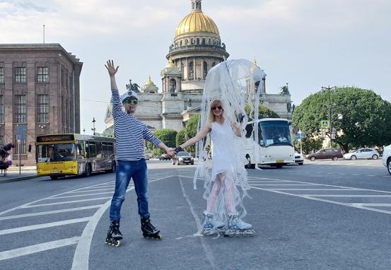 Роллер-пробег поцентру Санкт-Петербурга