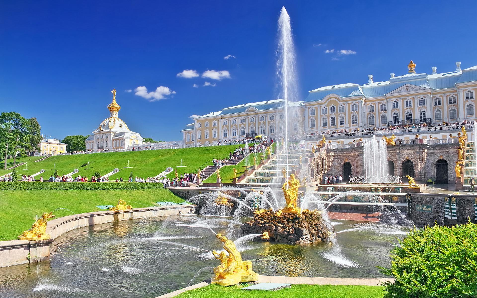 фото город петергоф